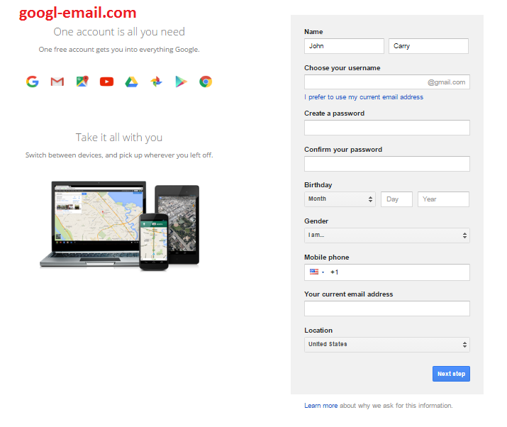 Gmail com sign in online