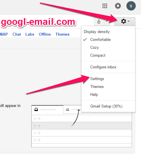 How to turn on / turn off gmail desktop notifications