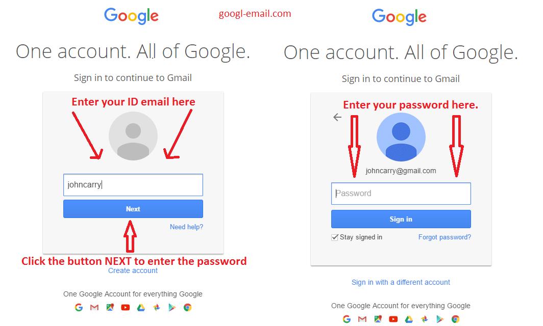 sine gmail account